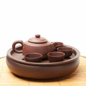 Ceramic teapot for brewing tea — Stock Photo