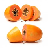 Halves of Papaya — Stock Photo