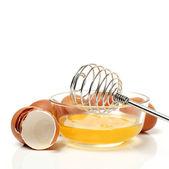 Провод юркнет и коричневые яйца — Стоковое фото
