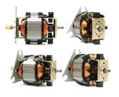 Small electric motors set — Stock Photo