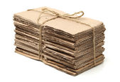 Waste cardboard bundle for recycling — Stock Photo