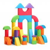 The toy castle from color blocks — Stock Photo