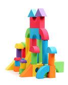 Renk blokları oyuncak kale — Stok fotoğraf