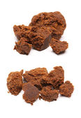 Braun würfel zucker — Stockfoto