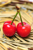 Natural cherries — Stock Photo