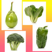 Set of Green vegetables — Stock Photo