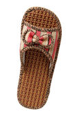 Slipper woven from rattan — Stock Photo