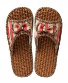 Slippers woven from rattan — Stock Photo