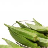 Fresh okra isolated on a white background — Stock Photo