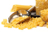 Pasta with spoon — Stock Photo