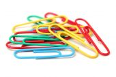 Paperclips on white — Stock Photo