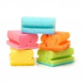 Brightly colored sponges — Stock Photo