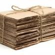 Waste cardboard bundle for recycling — Stock Photo #56774057