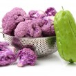 Purple cauliflowers and Chayote — Stock Photo #56785901