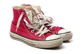 Oude sneaker schoenen — Stockfoto