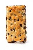 Homemade Cracker on white background — Stock Photo
