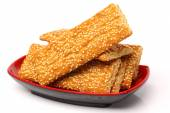 Tasty sesame cookies — Stock Photo