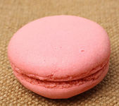 Pink french macaron — Stock Photo