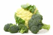 Cauliflower and broccoli cabbage — Stock Photo