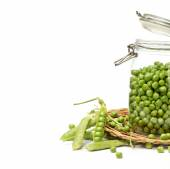 Fresh green peas — Stock Photo