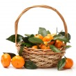 Ripe fresh tangerines — Stock Photo #60695695