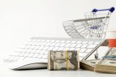Internet online shopping concept — Stock Photo
