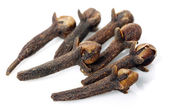 Dry cloves on white — Stock Photo