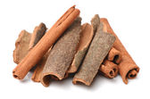 Cinnamon sticks  on white — Stock Photo
