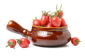 Сherry tomatoes on a white — Stock Photo