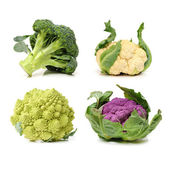 CRomanesco, broccoli and cauliflower — Stock Photo
