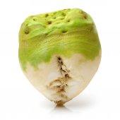 Brassica juncea on white — Stock Photo