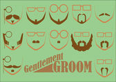 Gentlemen Groom — Stock Vector