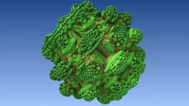 Fractal 3D animation. — Stock Video