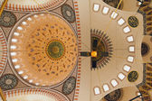 Beautiful ceiling of Mosque in Istanbul — Stock Photo