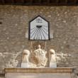 ������, ������: Sundial and coat of arms in Villafranca del Bierzo