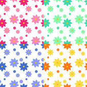 Flat floral seamless pattern — Cтоковый вектор