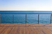 Empty ocean viewpoint — Stock Photo