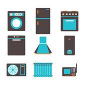 Aparelhos domésticos — Vetor de Stock