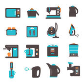 Icons with kitchen utensils — Stock Vector