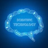 Antecedentes científicos — Vector de stock