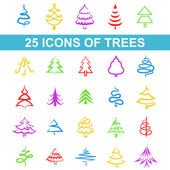 Icons tree — Stock Vector