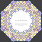 Vintage floral square frame. — Stock Vector