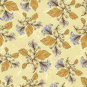 Vintage floral pattern.Vector illustration. — Stock Vector