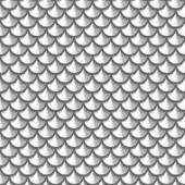 Seamless grayscale river fish scales — Stock Vector