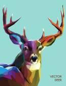 Deer polygonal illustration. Vector  eps 10 — Stock Vector