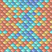 Seamless colorful river fish scales — Stock Vector