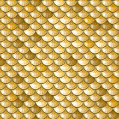 Seamless gold river fish scales — Stock Vector