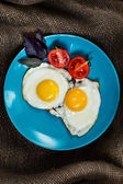 Fried eggs sunny side up — Stock Photo