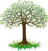 Zwarte boom — Stockvector