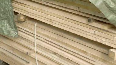 White lumbers — Vídeo Stock